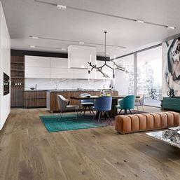 Barlinek Oak Olive Crostini Medio Engineered Wood Flooring