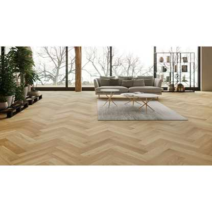 Natura Oak Brushed Matt Lacquer Herringbone