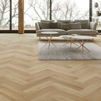 Oak Brushed Matt Lacquer Herringbone Engineered Parquet