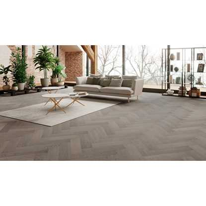 Natura Oak Truffle Grey Herringbone