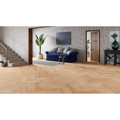 Natura Oak Invisible Oiled Herringbone