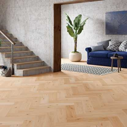Natura Oak Invisible Oiled Herringbone Engineered Parquet