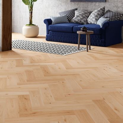 Oak Invisible Oiled Herringbone Engineered Parquet