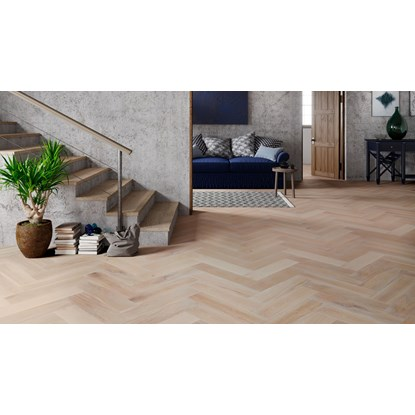 Natura Oak Smoked White Herringbone Engineered Parquet