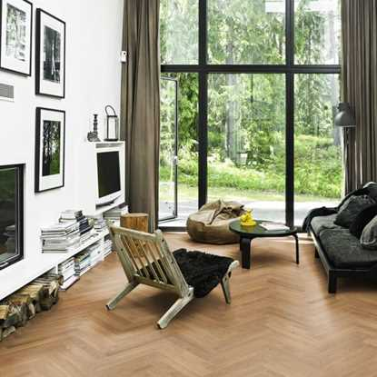 Kahrs Herringbone CD Oak Nyland Satin Parquet
