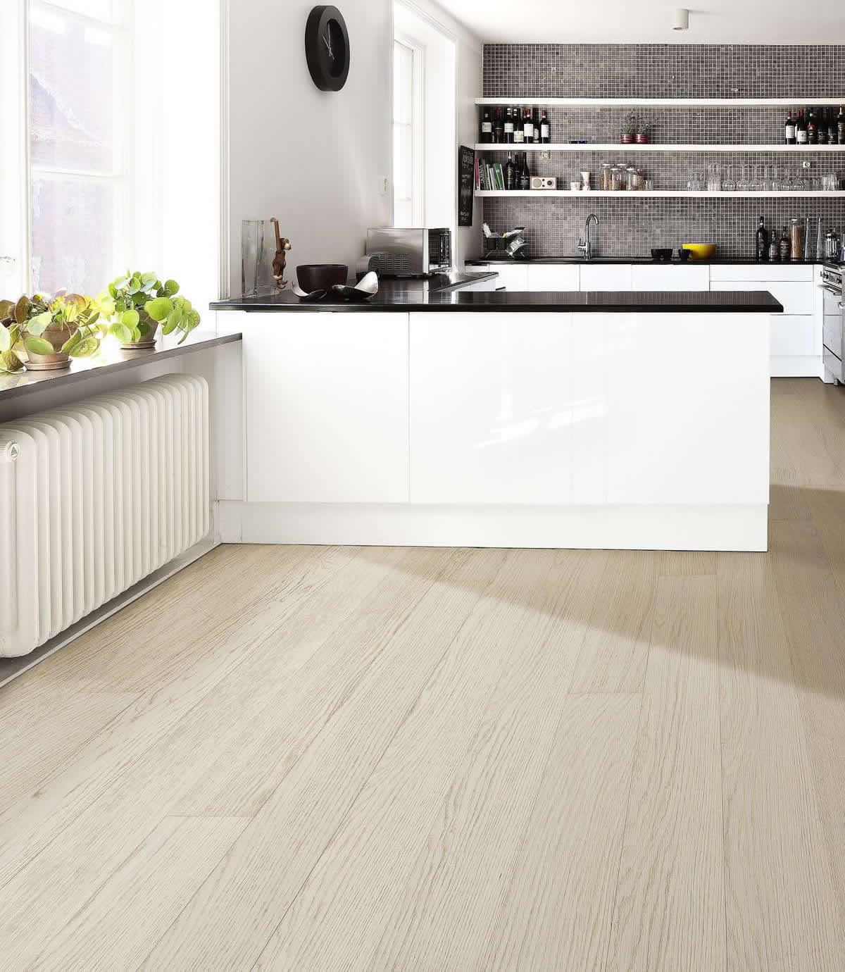 White Kitchen Oak Floor: Kahrs Linnea Oak Dome Engineered Wood Flooring