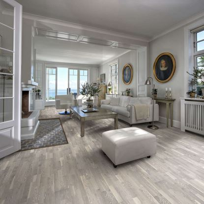 Kahrs Harmony Oak Limestone Engineered Wood Flooring