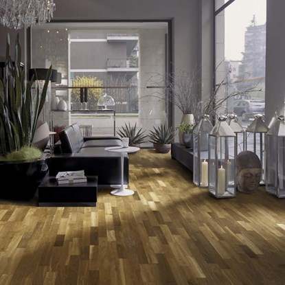 Kahrs Oak Smoke Engineered Wood Flooring - Matt Lacquer