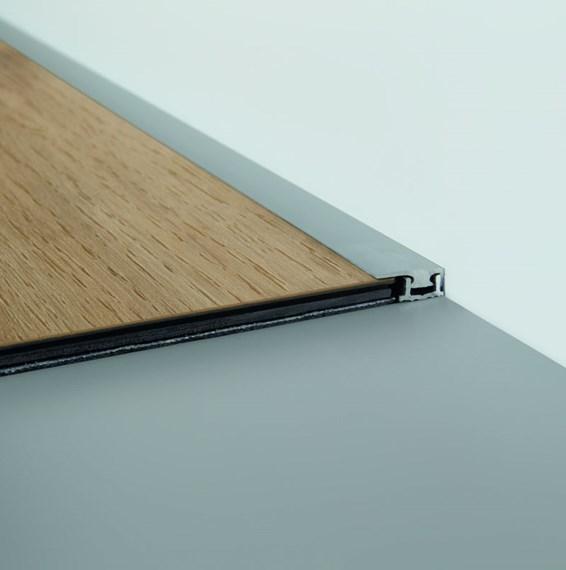 quickstep livyn silver end profile. Black Bedroom Furniture Sets. Home Design Ideas