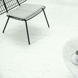 Quickstep Alpha Marble Carrara White Vinyl Flooring