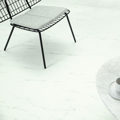 Quickstep Alpha Marble Carrara White Vinyl Flooring