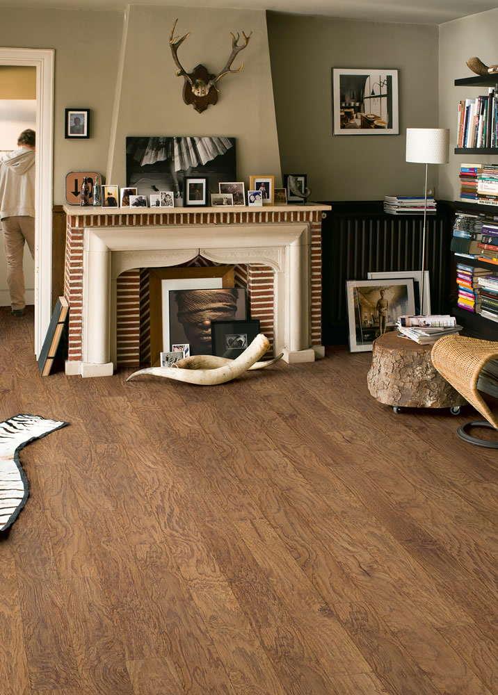 quickstep rustic natural hickory ric1424 laminate flooring. Black Bedroom Furniture Sets. Home Design Ideas