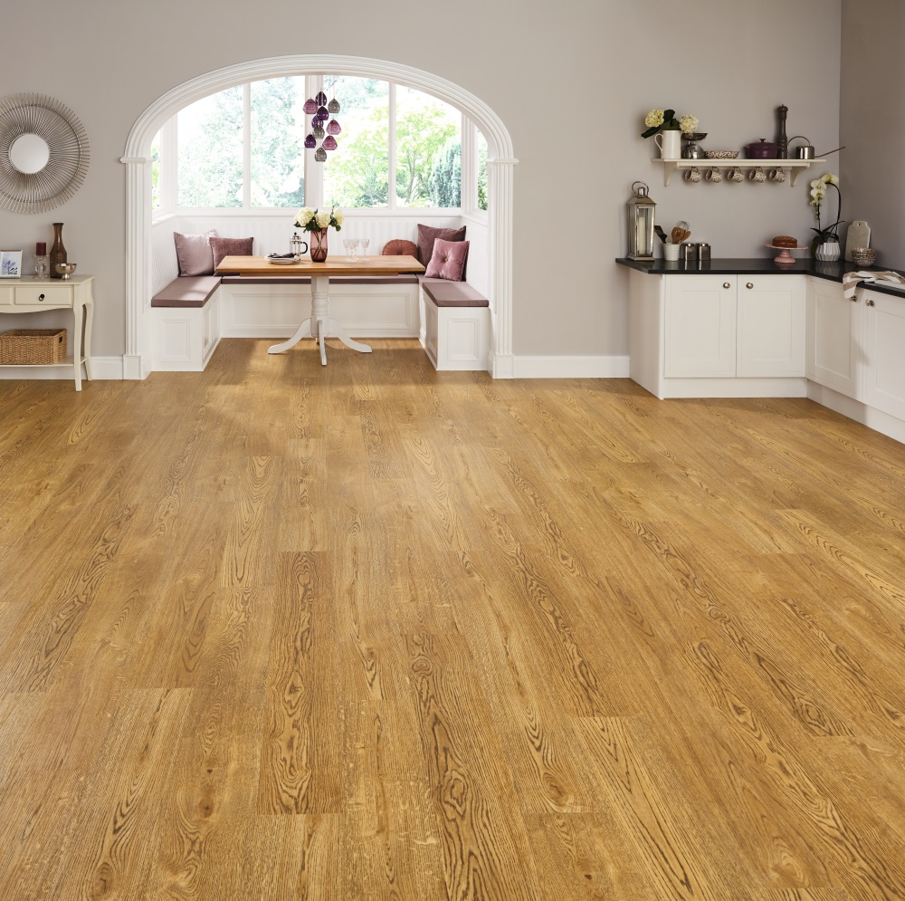 In addition to affordability, laminate flooring has lots of great qualities, from being scratch and noise resistant to water resistant and more. Laminate flooring looks just like wood, tile or stone, but is easy to maintain, durable and long lasting.