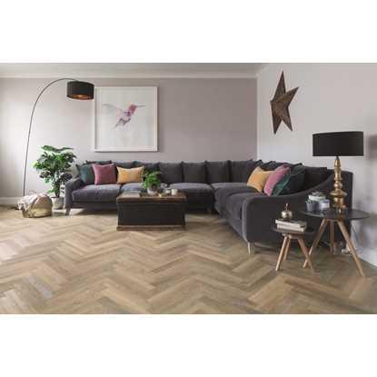 Karndean Knight Tile Lime Washed Oak Herringbone SM-KP99 Vinyl Flooring