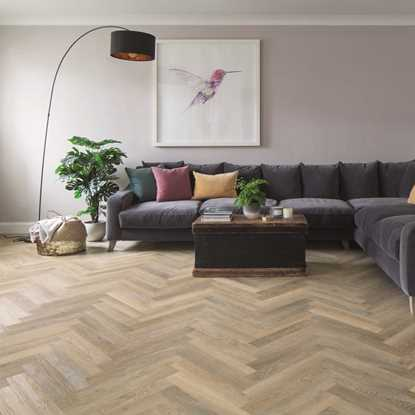 Karndean Knight Tile Lime Washed Oak Herringbone SM-KP99 Vinyl Flooring