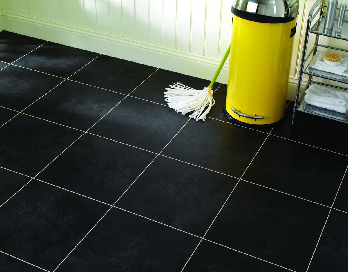 Karndean Kitchen Flooring Opus Nero Sp115 Vinyl Flooring