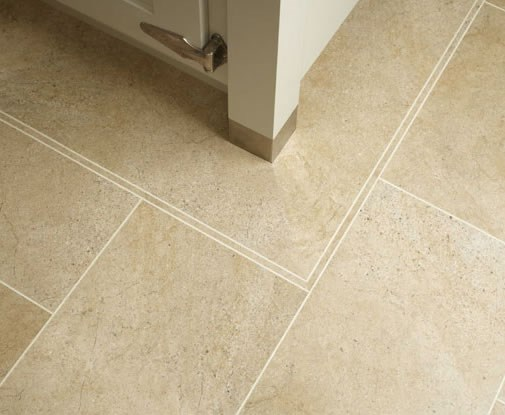 Karndean knight tile bath stone st12 vinyl flooring for Tile effect vinyl flooring for bathrooms