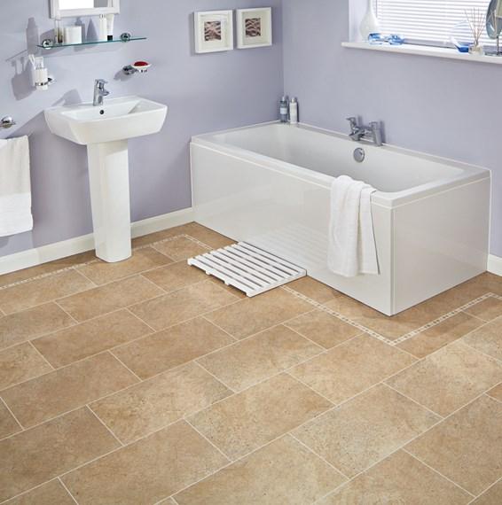 Karndean Knight Tile Bath Stone ST12 Vinyl Flooring