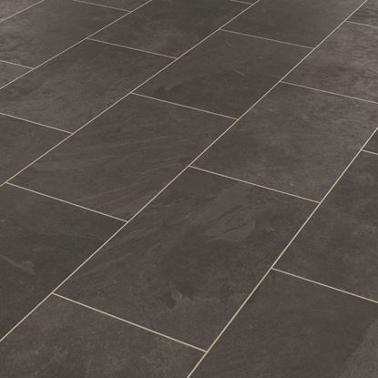 Karndean Knight Tile Black Riven Slate ST15 Vinyl Flooring
