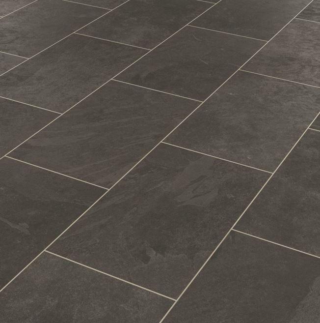 Karndean Knight Tile Black Riven Slate ST15 Vinyl Flooring