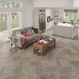 Karndean Knight Tile Grey Riven Slate ST16 Vinyl Flooring