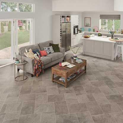Karndean Knight Tile Grey Riven Slate ST16 Vinyl Flooring