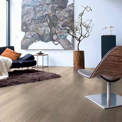 Quickstep Elite Light Grey Varnished Oak UE1304 Laminate Flooring