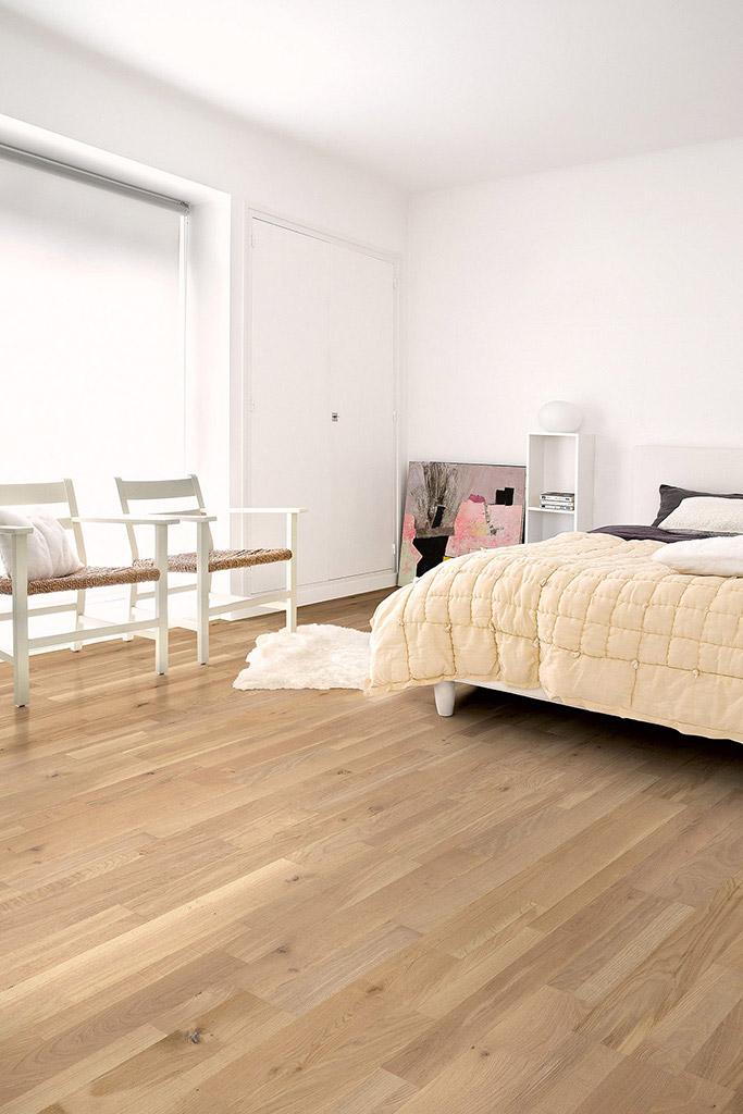 Quickstep variano dynamic raw oak extra matt var3102s for Raw hardwood flooring
