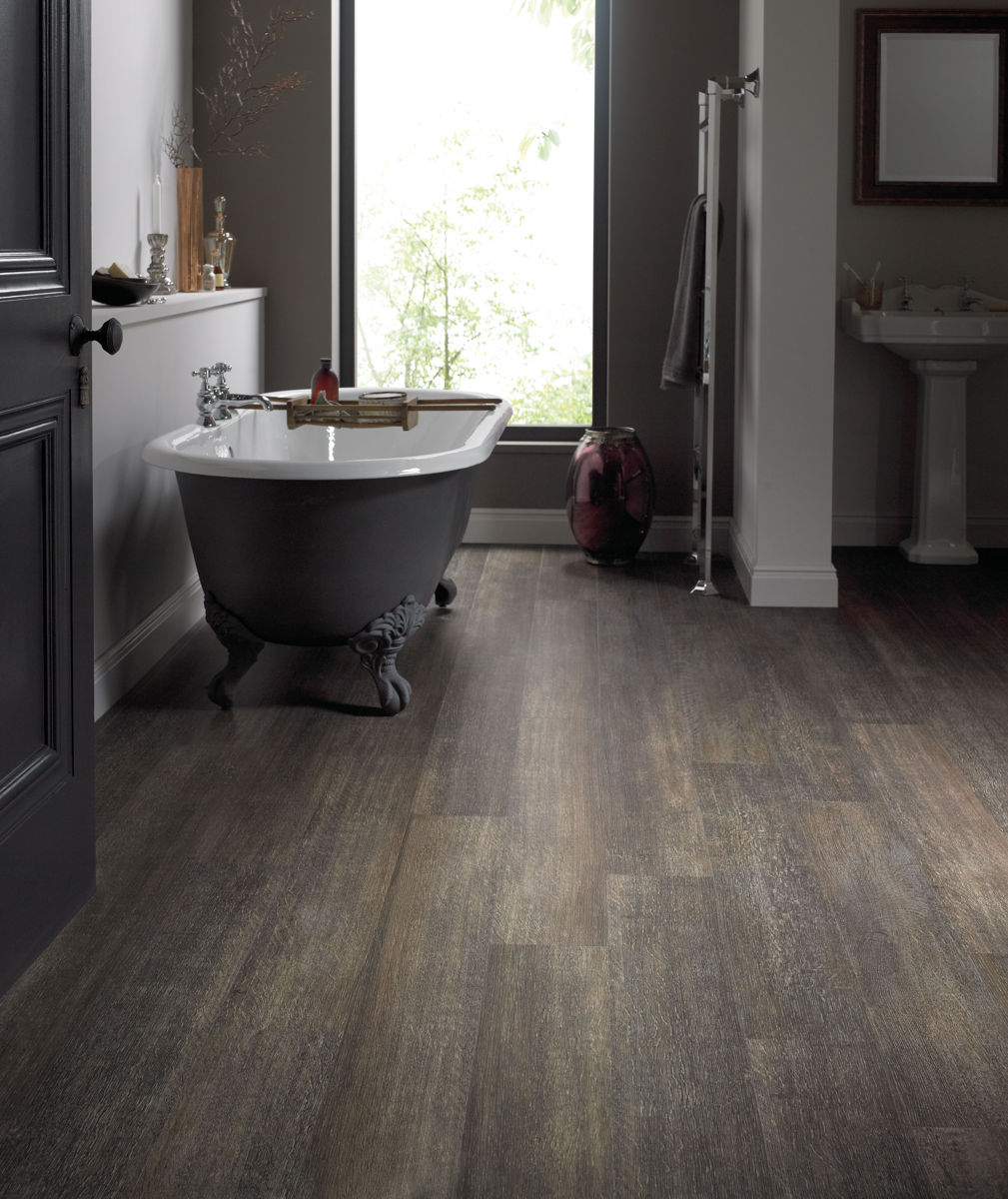 Installing Hardwood Flooring In Bathroom: Karndean Van Gogh Brushed Oak VGW88T Vinyl Flooring
