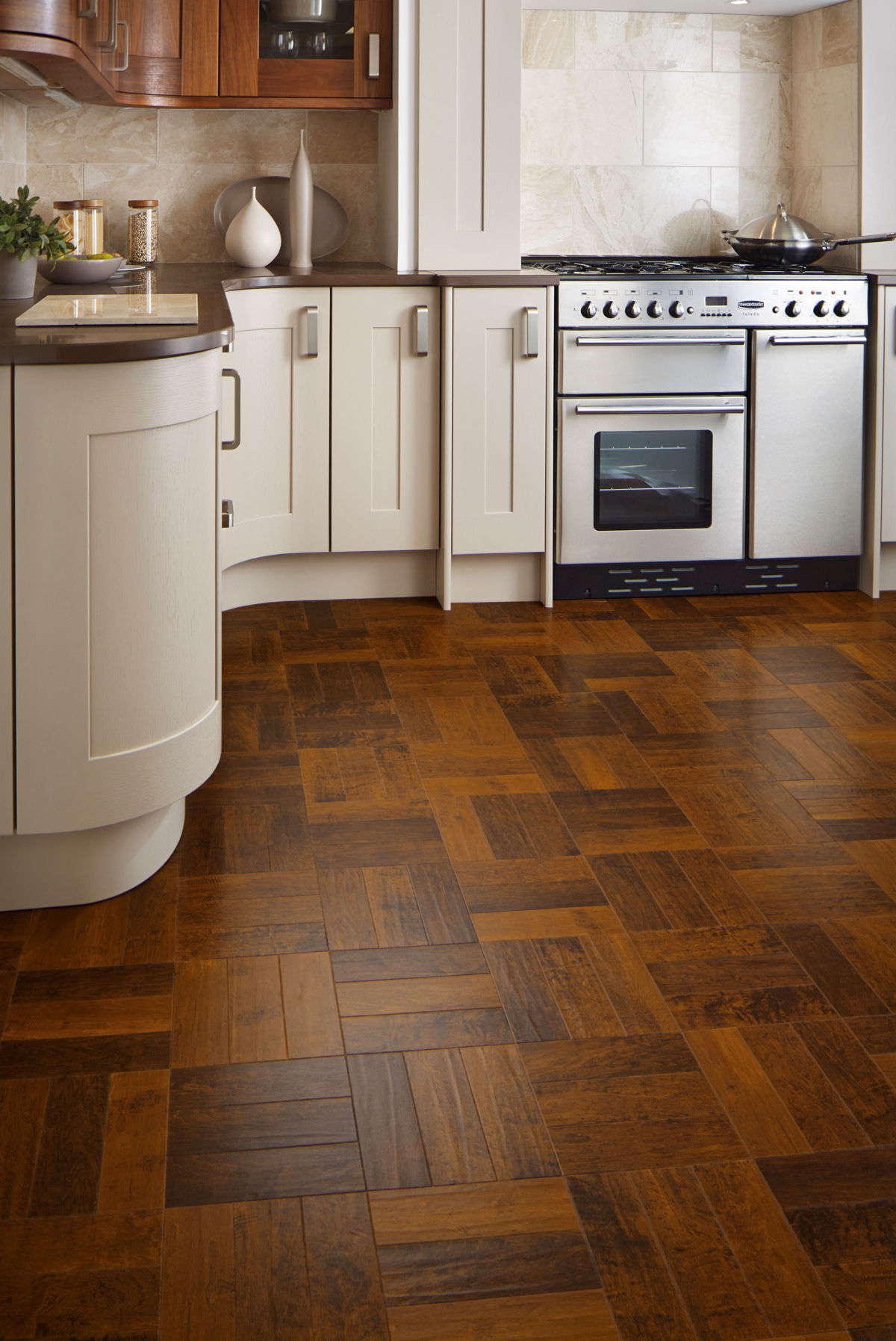 Karndean Art Select Spanish Cherry Parquet Ap05 Vinyl Flooring
