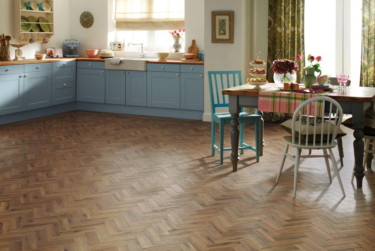 Karndean Art Select Morning Oak Parquet Ap06 Vinyl Flooring
