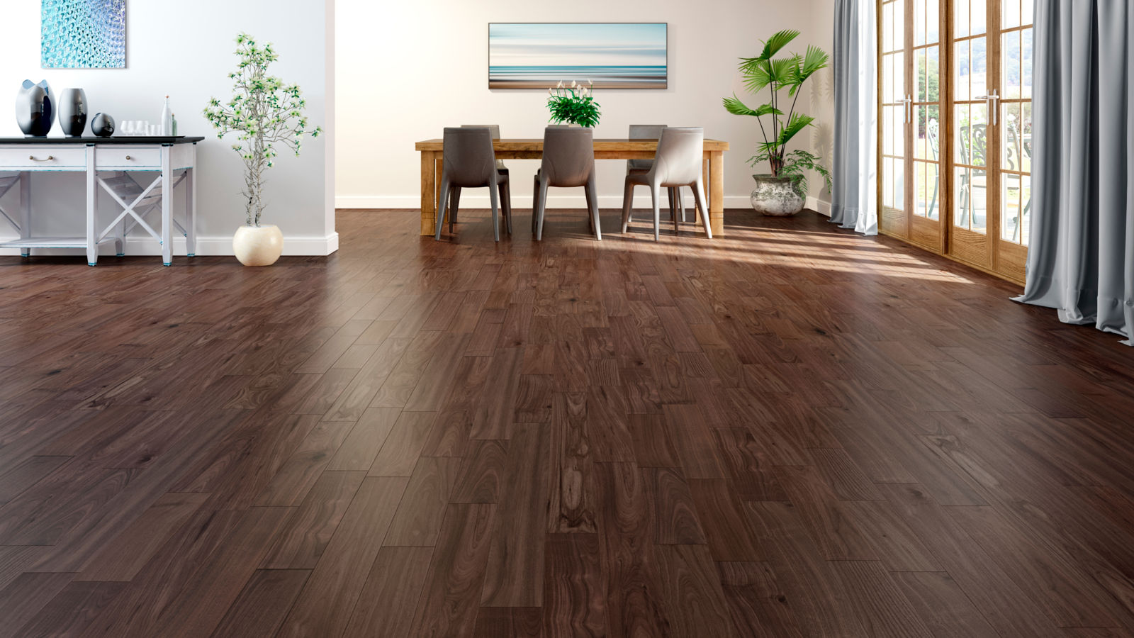 Natura American Black Walnut Carolina Engineered Wood Flooring