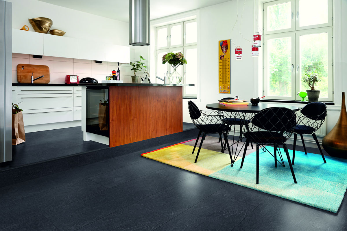 Pergo Living Expression Charcoal Slate Laminate Flooring