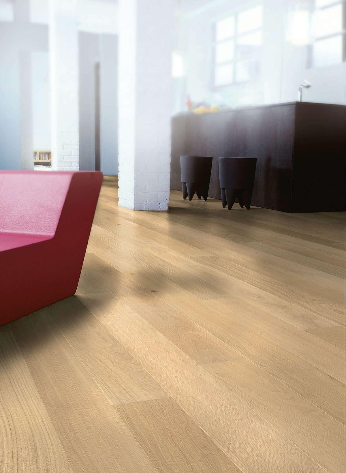 Quickstep castello pure oak matt cas1341s engineered wood for Quickstep flooring uk