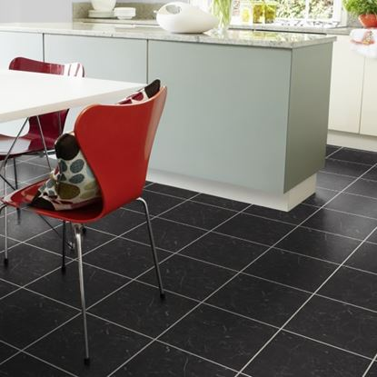 Karndean Knight Tile Midnight Black T74 Vinyl Flooring