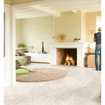 Quickstep Eligna White Varnished Pine Planks U1235 Laminate Flooring