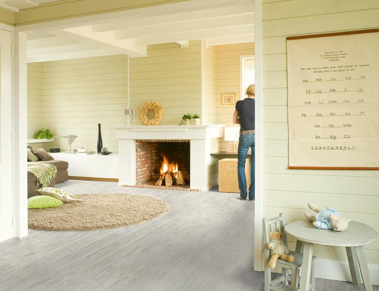 Perspective White Brushed Pine UF1235 Laminate Flooring