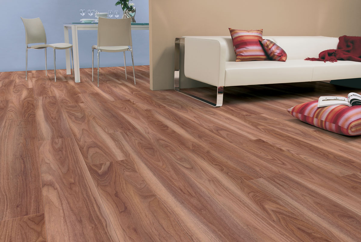Exceptional Kaindl Natural Touch Varnished Walnut Laminate Flooring