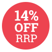 14% Off RRP