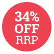 34% Off RRP