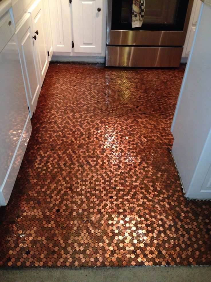 Flooring Inspiration Diy Copper Penny Floor